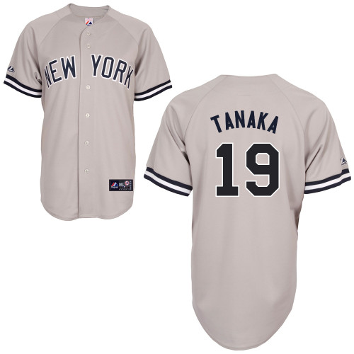 Masahiro Tanaka #19 mlb Jersey-New York Yankees Women\'s Authentic Replica Gray Road Baseball Jersey