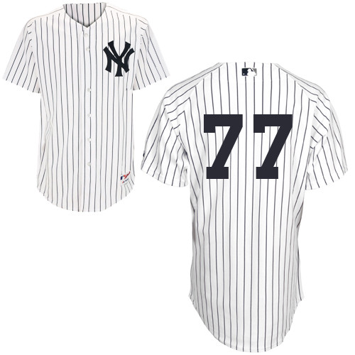 Mason Williams #77 MLB Jersey-New York Yankees Men's Authentic Home White Baseball Jersey