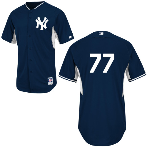 Mason Williams #77 Youth Baseball Jersey-New York Yankees Authentic Navy Cool Base BP MLB Jersey