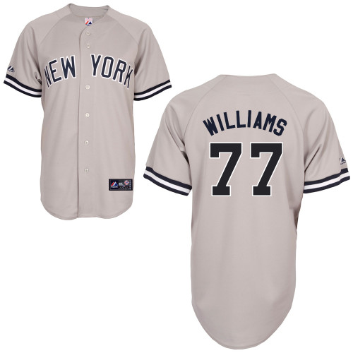 Mason Williams #77 MLB Jersey-New York Yankees Men's Authentic Replica Gray Road Baseball Jersey