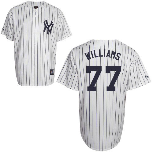Mason Williams #77 Youth Baseball Jersey-New York Yankees Authentic Home White MLB Jersey