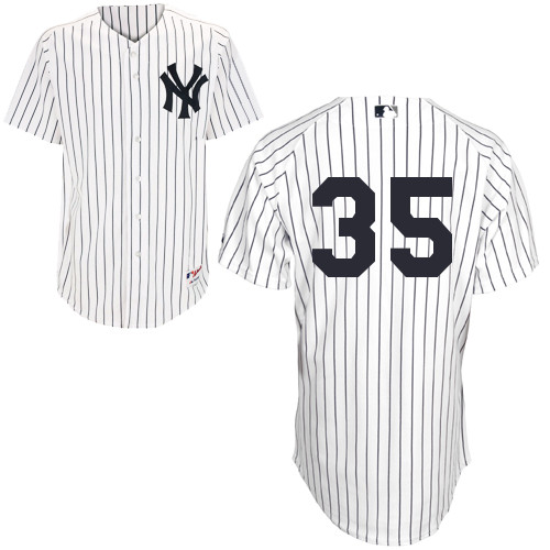 Michael Pineda #35 MLB Jersey-New York Yankees Men's Authentic Home White Baseball Jersey