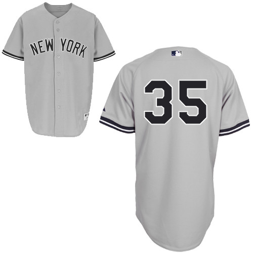 Michael Pineda #35 MLB Jersey-New York Yankees Men's Authentic Road Gray Baseball Jersey