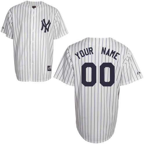 Customized Youth MLB jersey-New York Yankees Authentic Home White Baseball Jersey