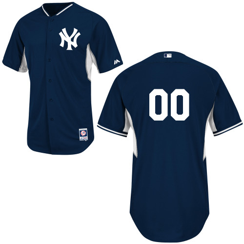 Customized Youth MLB jersey-New York Yankees Authentic Navy Cool Base BP Baseball Jersey