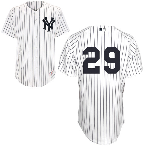 Scott Sizemore #29 MLB Jersey-New York Yankees Men's Authentic Home White Baseball Jersey