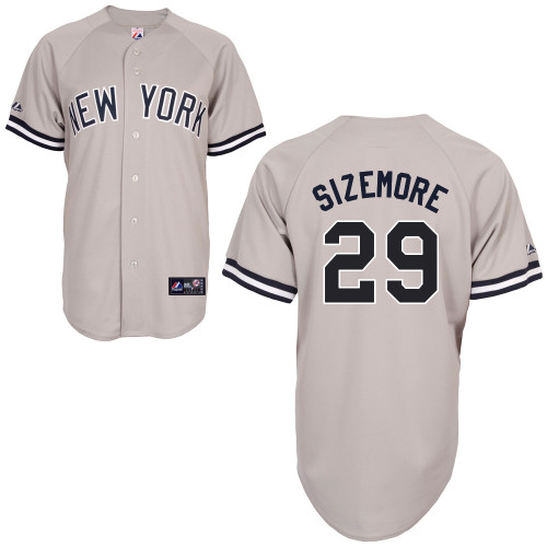 Scott Sizemore #29 mlb Jersey-New York Yankees Women's Authentic Replica Gray Road Baseball Jersey