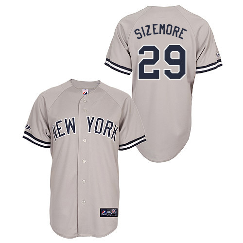 Scott Sizemore #29 Youth Baseball Jersey-New York Yankees Authentic Road Gray MLB Jersey