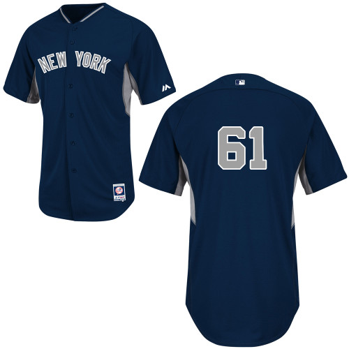 Shane Greene #61 MLB Jersey-New York Yankees Men's Authentic 2014 Navy Cool Base BP Baseball Jersey