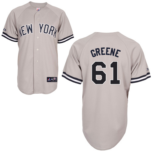 Shane Greene #61 MLB Jersey-New York Yankees Men's Authentic Replica Gray Road Baseball Jersey