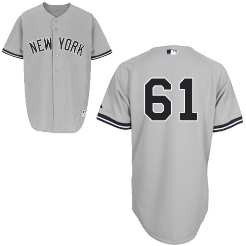 Shane Greene #61 MLB Jersey-New York Yankees Men's Authentic Road Gray Baseball Jersey