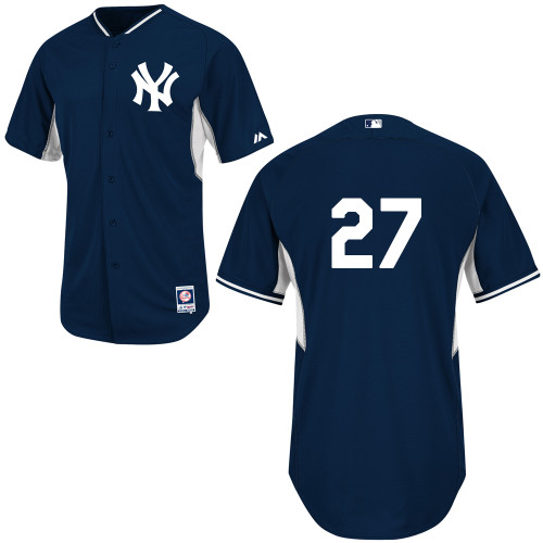 Shawn Kelley #27 mlb Jersey-New York Yankees Women's Authentic Navy Cool Base BP Baseball Jersey