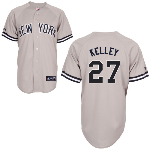 Shawn Kelley #27 MLB Jersey-New York Yankees Men\'s Authentic Replica Gray Road Baseball Jersey
