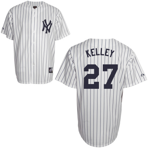 Shawn Kelley #27 Youth Baseball Jersey-New York Yankees Authentic Home White MLB Jersey