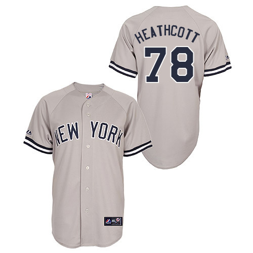 Slade Heathcott #78 Youth Baseball Jersey-New York Yankees Authentic Road Gray MLB Jersey