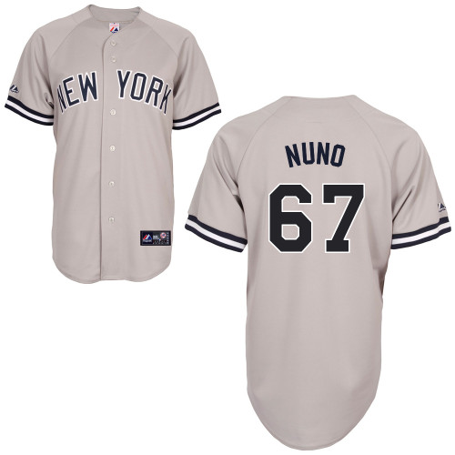 Vidal Nuno #67 MLB Jersey-New York Yankees Men's Authentic Replica Gray Road Baseball Jersey