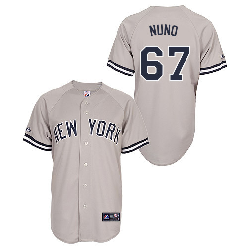Vidal Nuno #67 Youth Baseball Jersey-New York Yankees Authentic Road Gray MLB Jersey