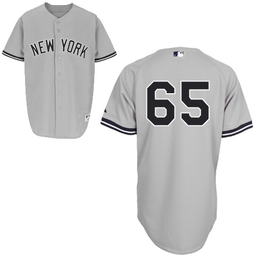 Zoilo Almonte #65 MLB Jersey-New York Yankees Men's Authentic Road Gray Baseball Jersey