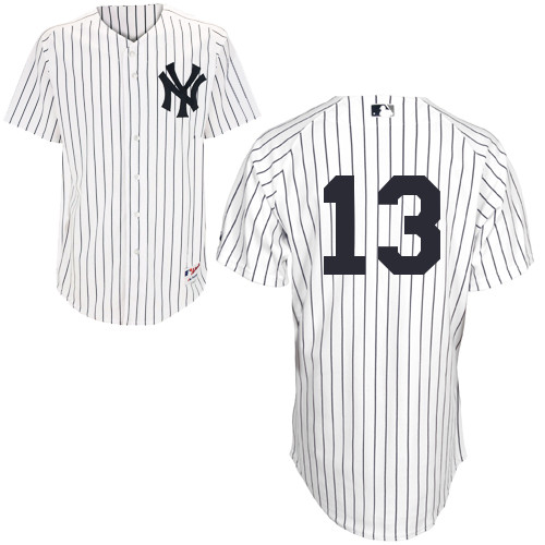 alex Rodriguez #13 MLB Jersey-New York Yankees Men's Authentic Home White Baseball Jersey
